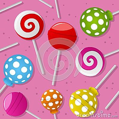 Sweet Lollipop Seamless Pattern
