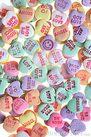 Sweet love messages candy