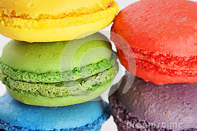 Sweet macaroons background