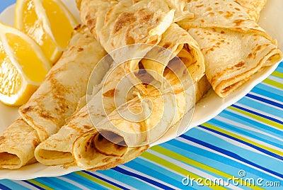 Sweet Pancakes With Lemon
