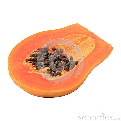 Sweet papaya isolated white