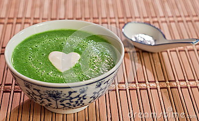 Sweet pea soup