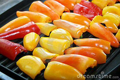 Sweet Peppers on Grill