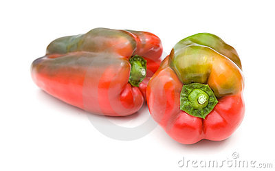 Sweet peppers on white backgrou