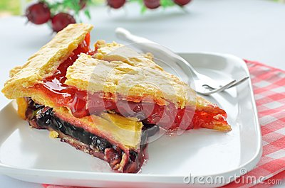 Sweet pie with jam