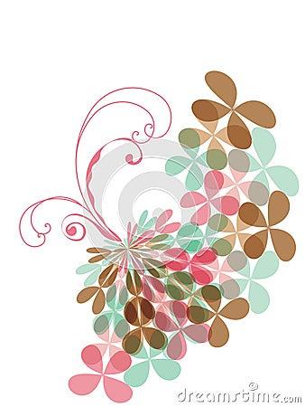 Sweet pink pastel clover swirl