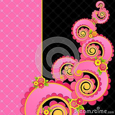 Sweet pink swirls.