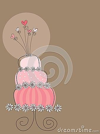 Free Sweet Pink Wedding Cake Stock Photo - 5187480