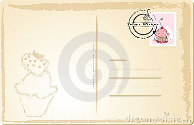 Sweet Post Card Stock Image - Image: 10547801