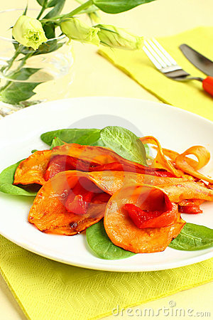 Sweet potato  and bell pepper