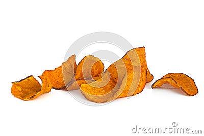 Sweet Potato Chips over White