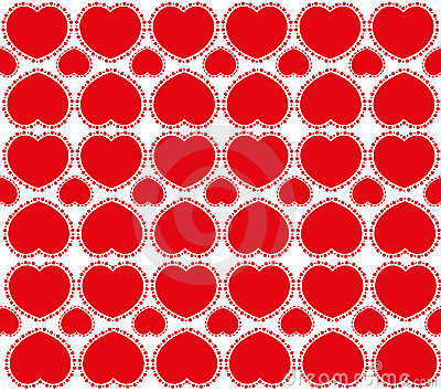 Sweet red hearts