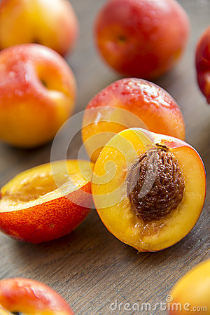 Sweet ripe peaches