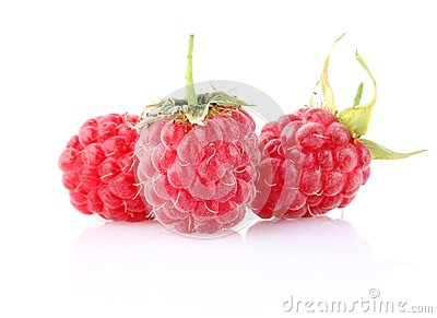 Sweet ripe raspberry