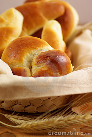 Sweet rolls and croissant