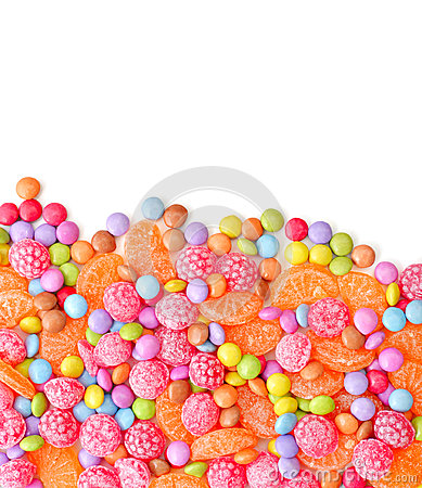Free Sweet Round Multicolor Candies Royalty Free Stock Image - 45538086