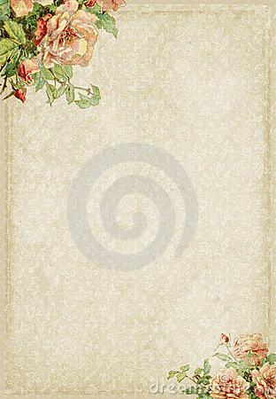 Free Sweet Shabby Chic Frame With Rose Flowers Stock Photography - 22953412
