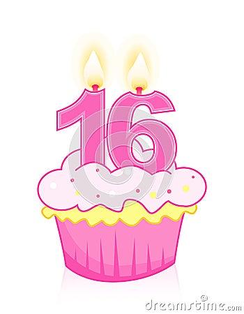 Sweet sixteen birthday cake