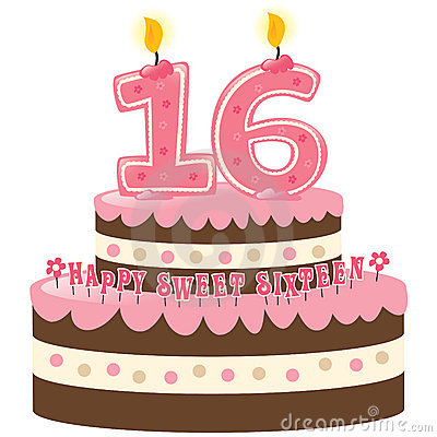 Free Sweet Sixteen Birthday Cake Royalty Free Stock Photos - 9945708
