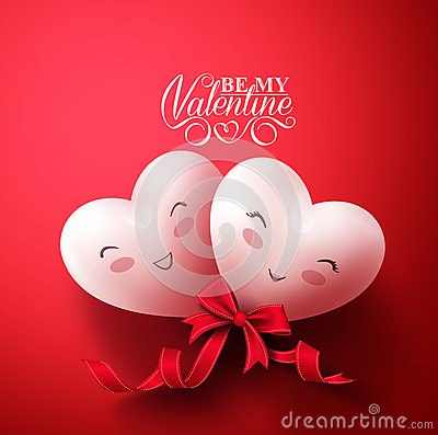 Free Sweet Smiling Hearts Of Happy Lovers For Happy Valentines Day Greetings Royalty Free Stock Images - 64987079