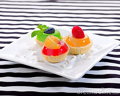 Sweet snack jelly cupcake
