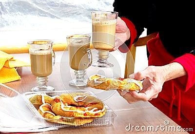 danish and coffee