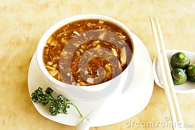Sweet and sour seafood soup