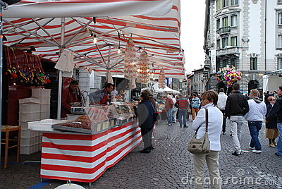 Sweet Stall, Friuli Doc Editorial Image