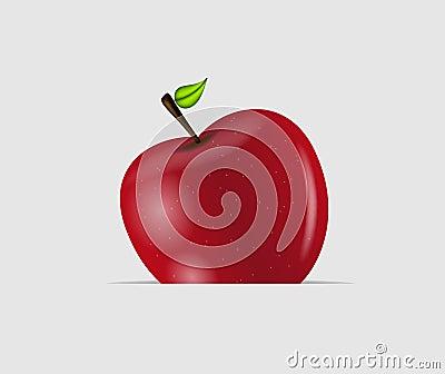 Sweet tasty apple vector illustration