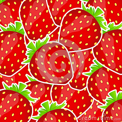 Free Sweet Tasty Strawberry Vector Illustration Royalty Free Stock Images - 27843139