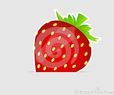 Sweet tasty strawberry vector illustration