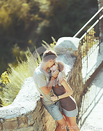 Free Sweet Teen Couple Kissing. Royalty Free Stock Photo - 34553535