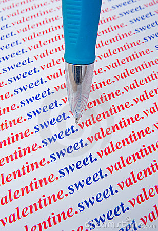 Sweet Valentine: message of love.