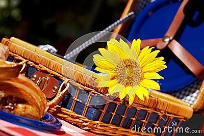 Sweet vintage picnic basket