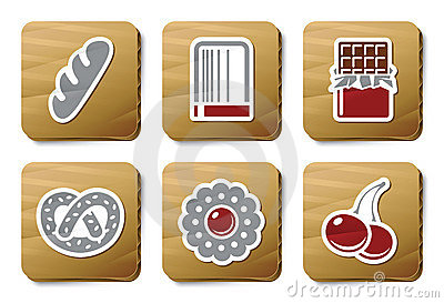 Sweeties and Bakery icons | Cardboard series
