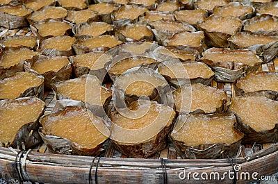 Sweetmeat steamed in a basket