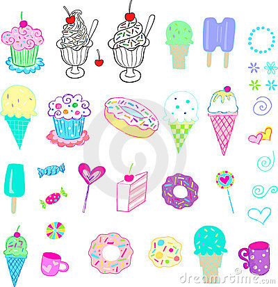 Free Sweets And Ice Cream Set Stock Images - 5231464