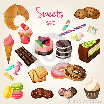 Free Sweets And Pastry Set Stock Photos - 40781753