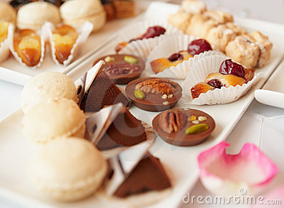 Sweets on banquet table