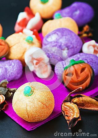 Sweets and candies for the holiday Halloween