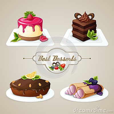 Free Sweets Dessert Set Royalty Free Stock Photos - 42027128