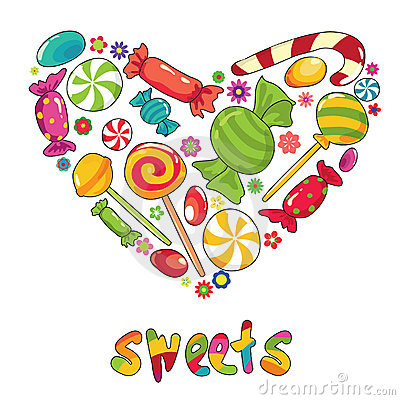 Free Sweets Heart Royalty Free Stock Photos - 19995978