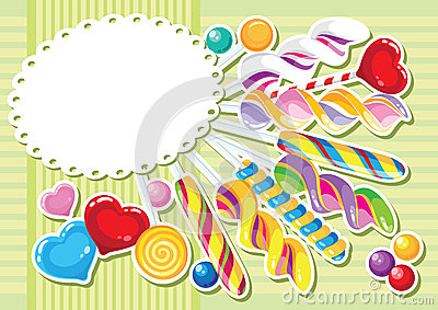 Sweets sticker background