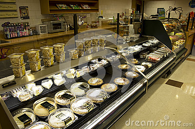 Sweets sugar cakes dessert bakery grocery store Editorial Stock Photo