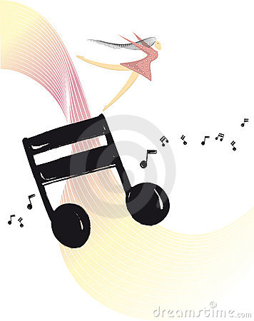Free Swept Away - Music Vector Ilustration Royalty Free Stock Photos - 7768898