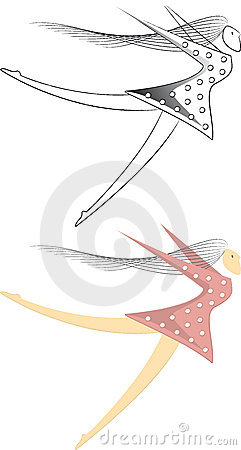 Free Swept Away - Woman Vector Ilustration Royalty Free Stock Photo - 7736085