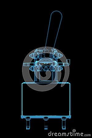 Swich 3D xray blue