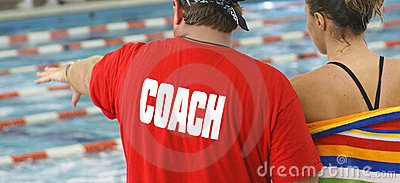 Swim Coach with Athlete