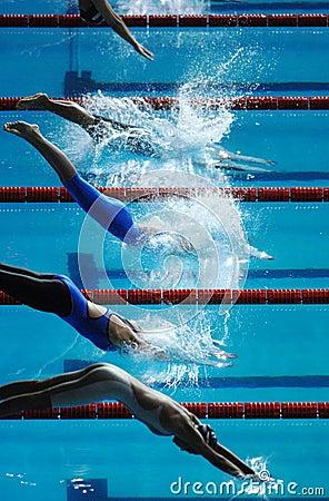 Free Swim Dive Start 01 Royalty Free Stock Photo - 2488335