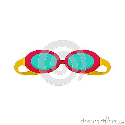 Free Swim Glasses Icon, Flat Style Stock Image - 122131011